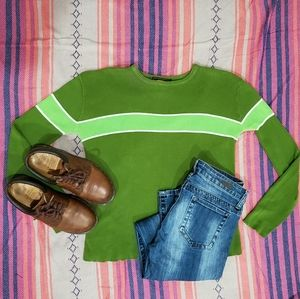 90s Free People Color Block sweater